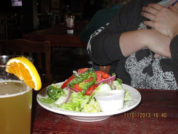 Lex's garden salad.