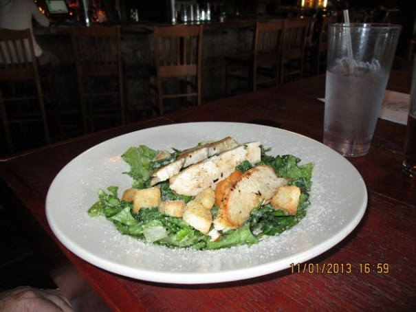 My Caesar salad with grilled chicken.