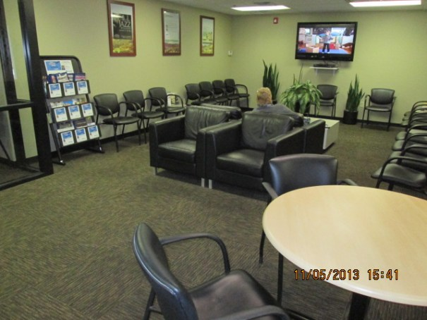 Magazines, cable tv with a nice flat screen and remotes in the area, comfy chairs, card table, snacks and drinks.