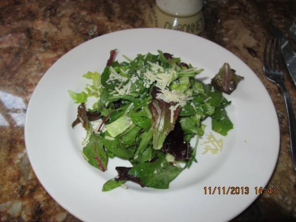 My green salad.  It was good.