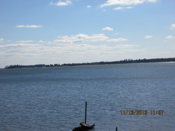The James River.  It is a sunny day, 43 degrees for a high today.