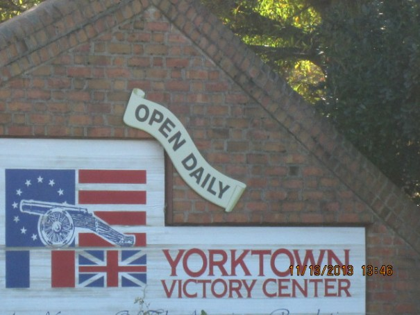 A portion of the Yourtown sign.
