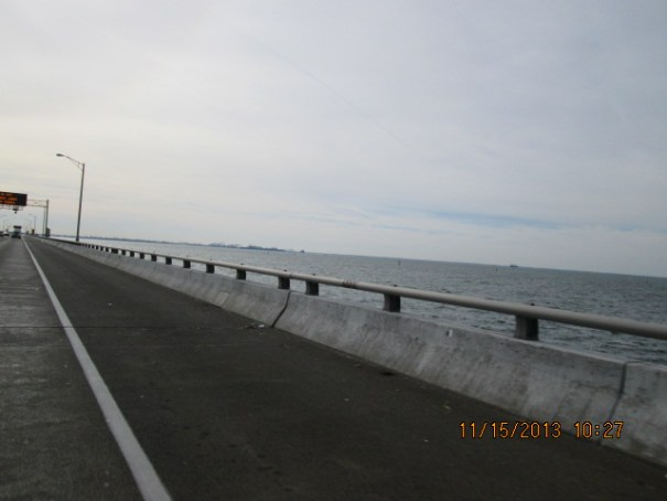 On the way to Virginia Beach, thought what a strange bridge, so low to the water.