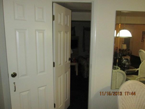 Passage door to lock off unit.