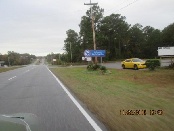 State Line into South Carolina.