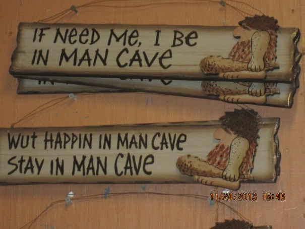 Thought of Nephew Darrin, who owns a real man cave.