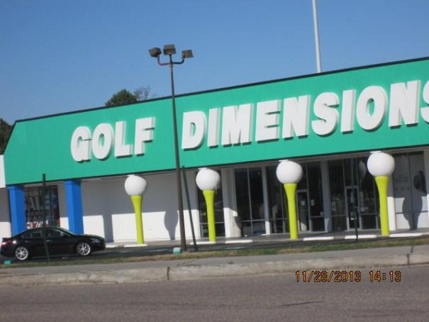 Biggest golf store we've ever seen.