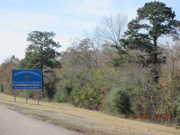 Welcome to Louisiana sign.