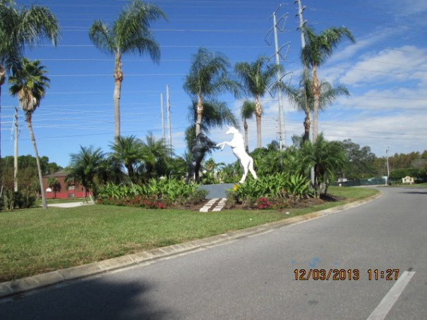 Nice statuary leading into Vacation Village.