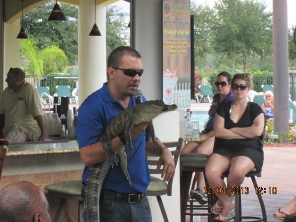 At one of the pools, this fellow was presenting a knowledgeable presentation about alligators.
