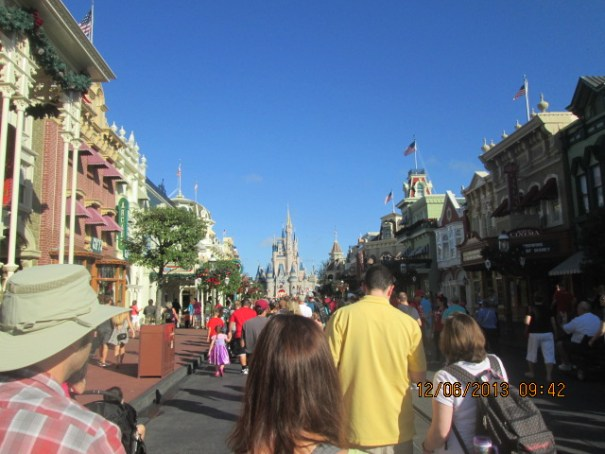 More Disney World Main Street USA crowd.