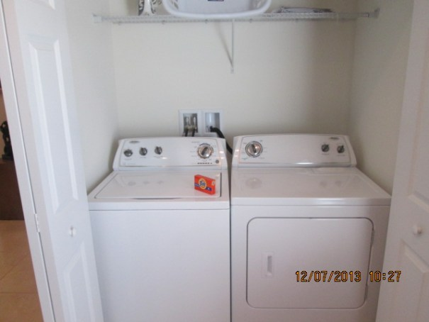 Full sized washer and dryer.