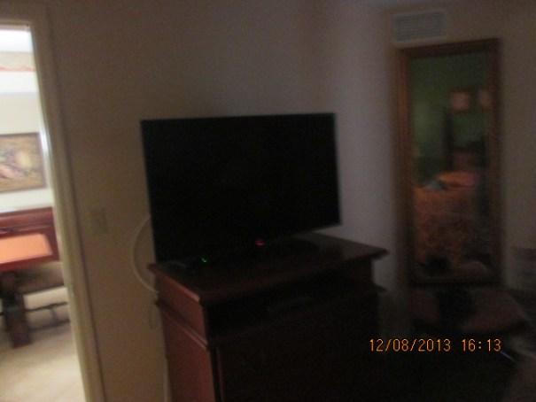 TV in Bedroom A.