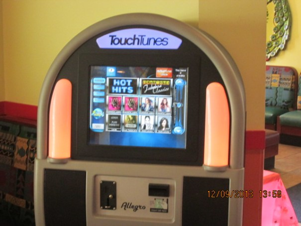 First new modern juke box I have seen.  Lex informed me that I may be somewhat behind the times and they are common.