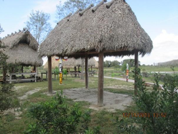 Native huts.