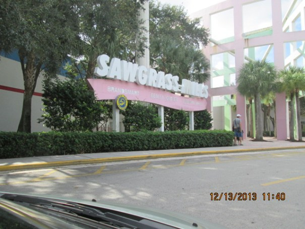 The Sign for Sawgrass Mills.