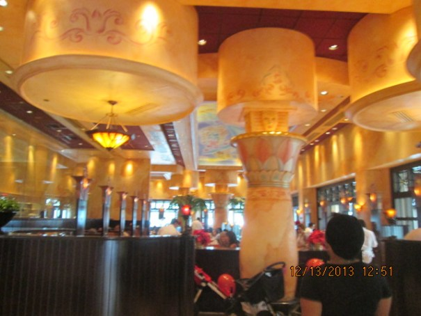 Inside the Cheesecake Factory.