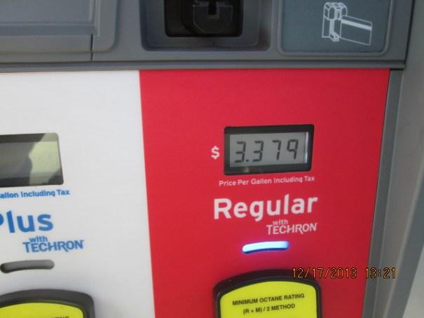 $3.38 a gallon.