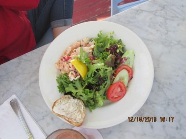 Lex had a shrimp salad.