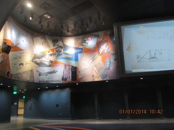 One of the theaters leading to the Atlantis display.