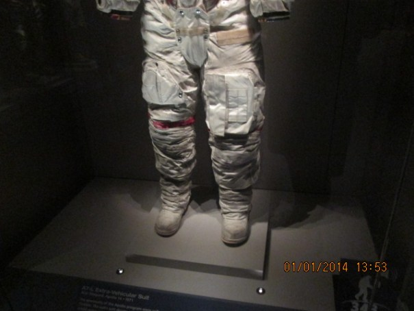 Alan Shepard's suit with moon dust still on it.