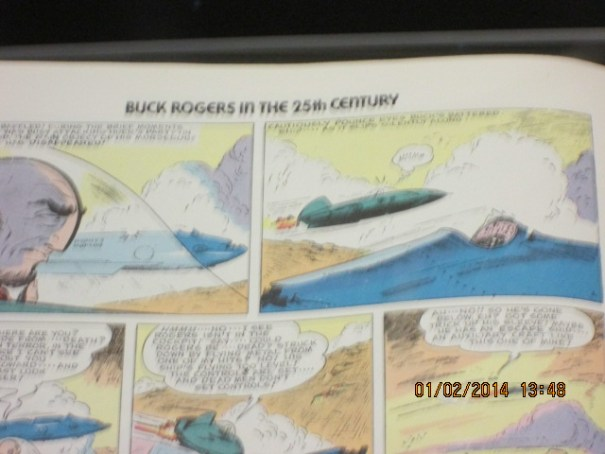 Buck Rogers in the 25th Century.  A big display with a huge comic book.