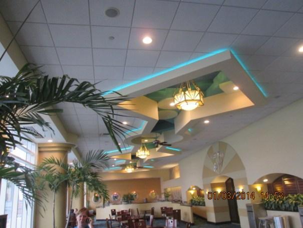 Artful ceiling.