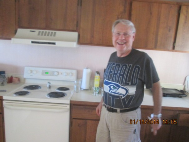 Ron must have his lucky t-shirt on, Seattle won against New Orleans.