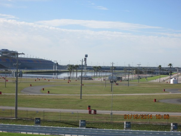 RV parking with hook-ups all over the infield.  Many of the drivers travel in RVs.