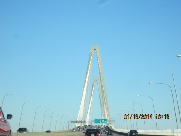 Neat bridge outside of Charleston.