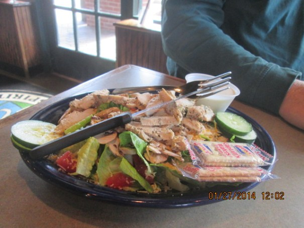 My chargrilled chicken salad.