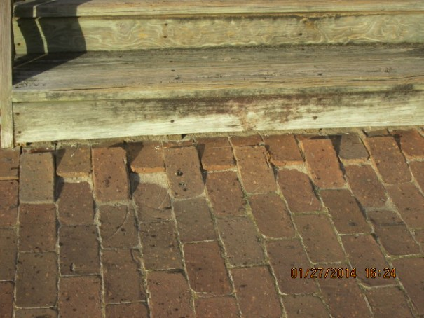 """At first I thought, """"Why would they angle these bricks upward"""" then I realized it was thousands of steps off the stairs that angled the bricks upward."""