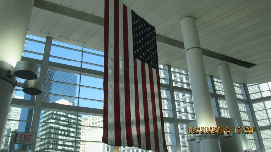 Flag in Ferry building.