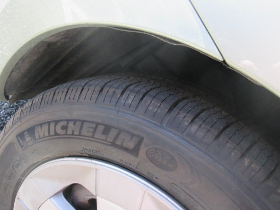 Michelin, new tires, should be good for a long time.