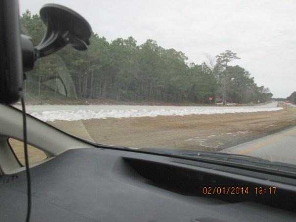 There is a lot more remnant snow here that there was to the south.