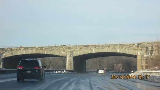 Nice stonework on the overpasses.