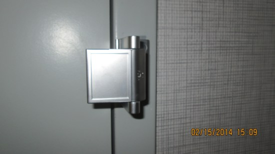 Interesting door lock, must be a way to defeat it in case of medical emergency.