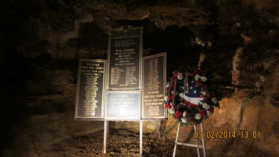 A memorial to those lost from Page County in WWI, II, Korea, Vietnam, Iraq and Afghanistan.