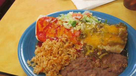 My burrito with rice and beans.