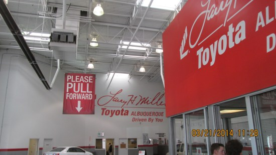 There are two Toyota dealerships in Albuquerque.