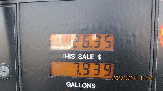 It was a fill up.