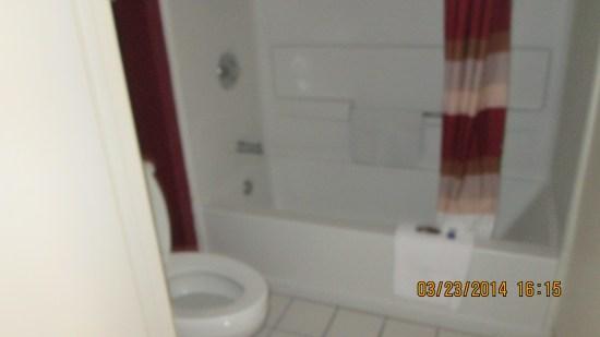 Nicer bathroom than the last place.