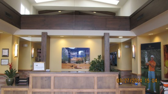 The tour center sent us to check in at the lodge lobby.
