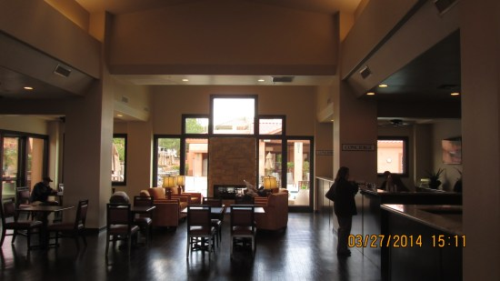 Nice lobby and staff, they sent us back to where we walked from.