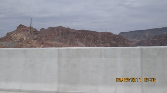 The bridge from which we could see Hoover Dam, has about a 5 foot wall that prevents viewing.