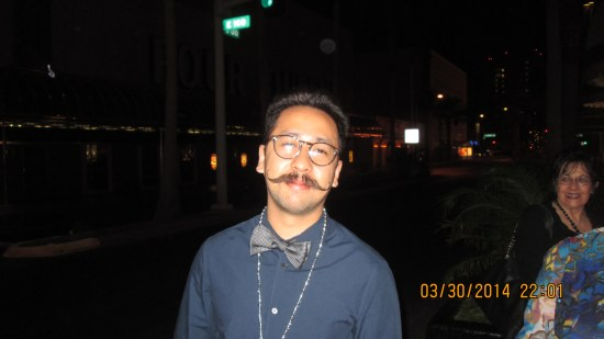 Edie had me take this fellow's picture, he put so much work into his mustache.