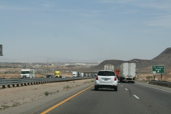 There was a traffic jam out of Barstow.