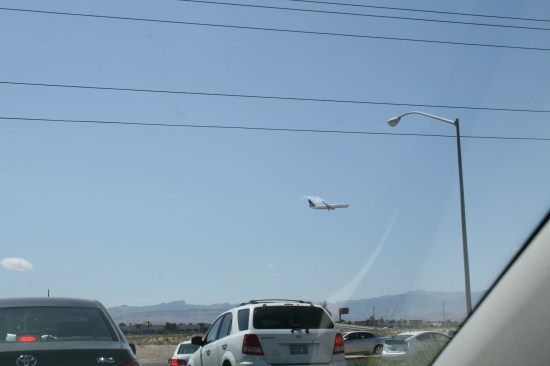 Especially at Frys, and less so at Outback, there is a constant plane traffic coming in for a landing.