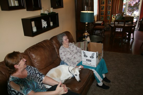 Visiting Aunt Opal, her grandson owns and operates the care facility, really nice for her.