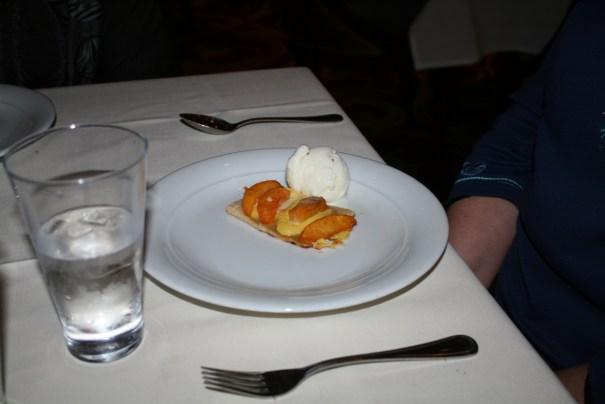 Peach cobbler for Edie's dessert.